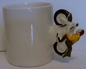 Carlton Ware Novelty Mug with BSA Motorcyle Rider
